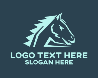 Mule - Ranch Horse logo design