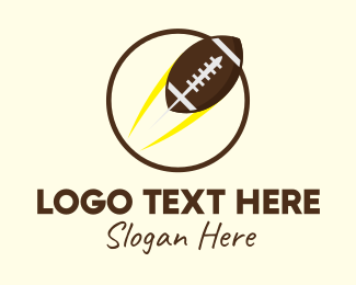 Rugby Tournament - Round American Football  logo design