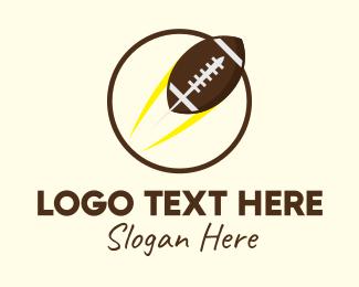 Professional Football - Round American Football  logo design