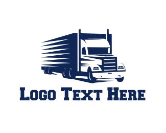 Container - Blue Truck logo design