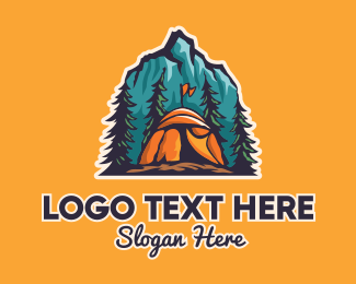 Explorer - Mountain Explorer Campsite logo design
