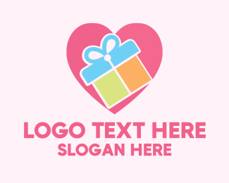 Wedding - Cute Gift Present logo design