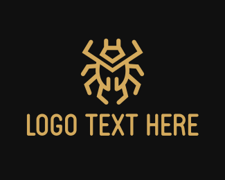 High Quality - Gold Bug logo design