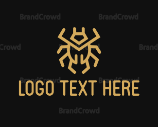 Anti-virus - Gold Bug logo design