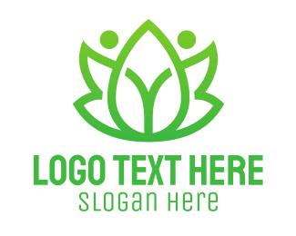 Pharmaceutic - Green Leaf People logo design