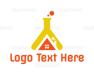 Bio Tech - Flask House logo design