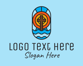 Stained - Holy Church Mosaic  logo design