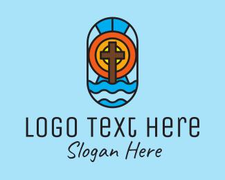 Church - Holy Church Mosaic logo design