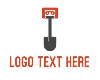 Dig - Music Digger logo design