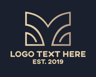 Metallic - Chrome Classy M logo design