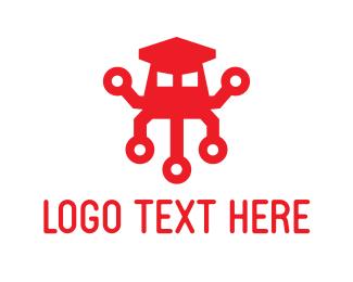Tentacles - Squid Robot logo design