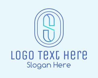 Letter - Letter S Monoline logo design