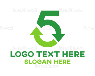 Fifth - Recycle Number 5 logo design