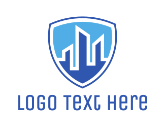 Security - Office Building Security Shield logo design