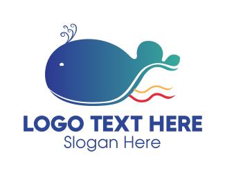 Whale - Blue Whale  logo design