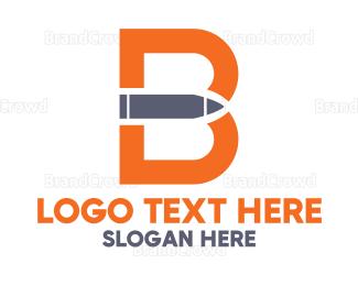 Bang - Letter B Bullet logo design