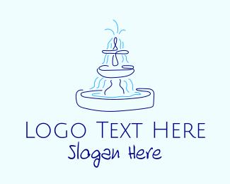 Burst - Blue Water Fountain logo design