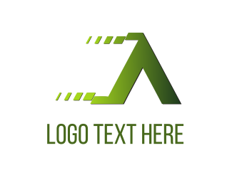Equipment - Fast Letter A logo design