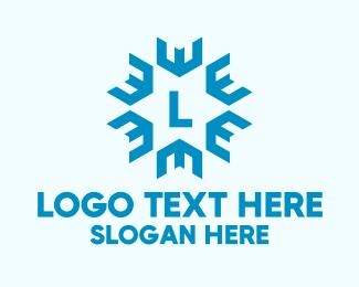 Snowflake - Snowflake Star Lettermark logo design