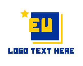 Politician - EU Europe logo design