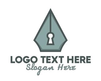 Security - Writing Security logo design