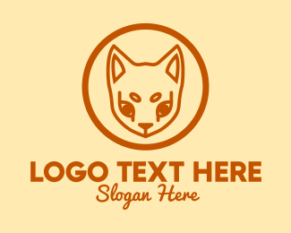 Siamese Cat - Orange Pet Cat  logo design