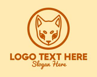 Pet Store - Orange Pet Cat logo design