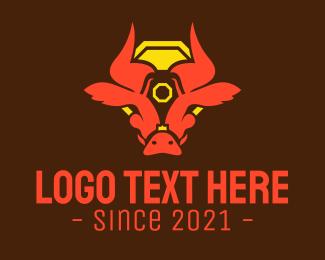 Mascot - Zodiac Ox Head logo design