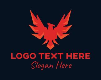 Fire - Phoenix Fire Wings logo design