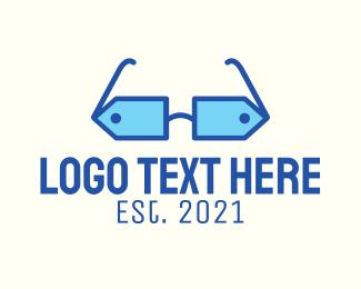 Glasses - Price Tag Glasses logo design