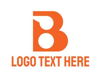 Whistle - Orange Whistle B logo design