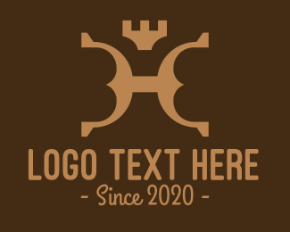 Prestigious - Brown Royal Leather logo design