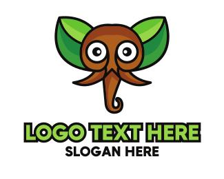 Ear - Ear Leaf Elephant logo design