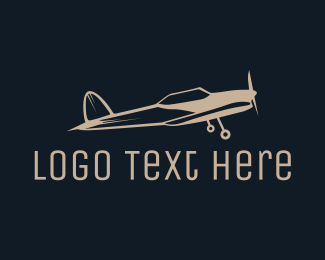 Crop Duster - Abstract Vintage Jet logo design