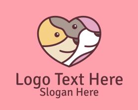 Puppy - Pet Dog Love Care logo design