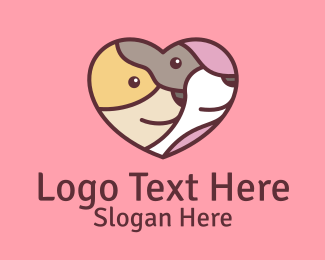 Doggy - Pet Dog Love Care logo design