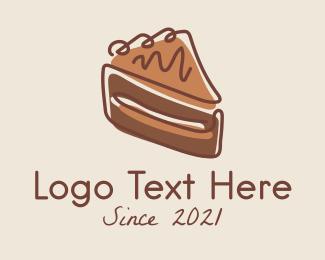 Chocolate - Chocolate Cake Slice logo design