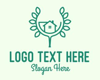 Leaf - Green Home Gardening logo design