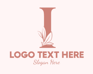 Aesthetics - Elegant Leaves Letter I logo design