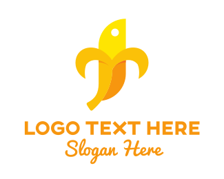 Yellow Banana - Banana Character logo design