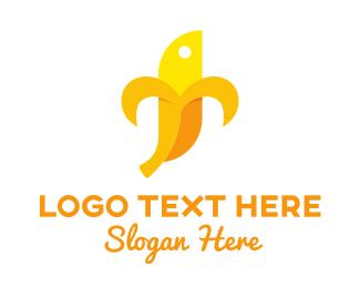 Plantain - Banana Character logo design