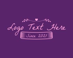 Date - Vintage Dating Text logo design