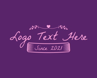 Date - Vintage Dating Text logo design