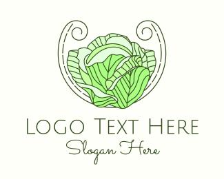 Marketplace - Cabbage Line Art logo design