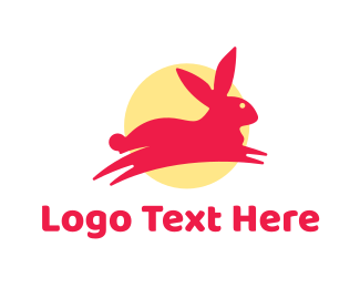 Rabbit - Pink Bunny Rabbit logo design