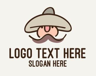 Sombrero - Gaming Bandit Character logo design