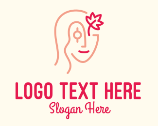 Plastic Surgery - Red Leaf Woman logo design