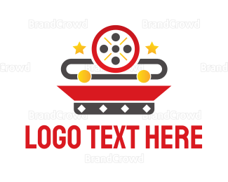 Celebrity - Movie Reel App logo design
