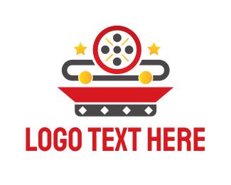 Animation - Movie Reel App logo design