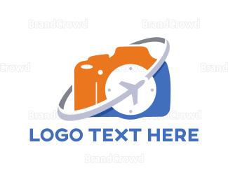 Wanderlust - Travel Camera logo design
